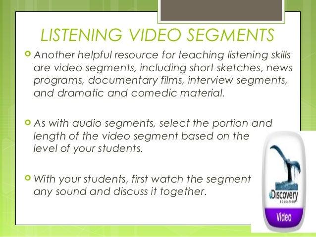 teaching listening module 6
