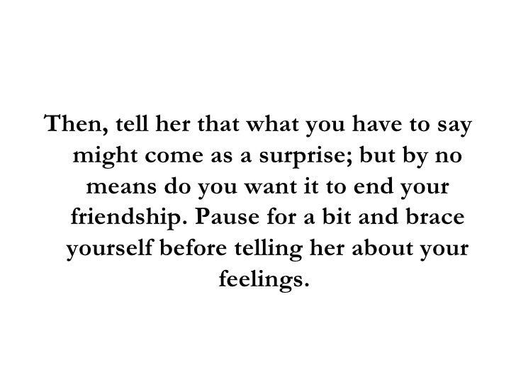 telling a girl you like her