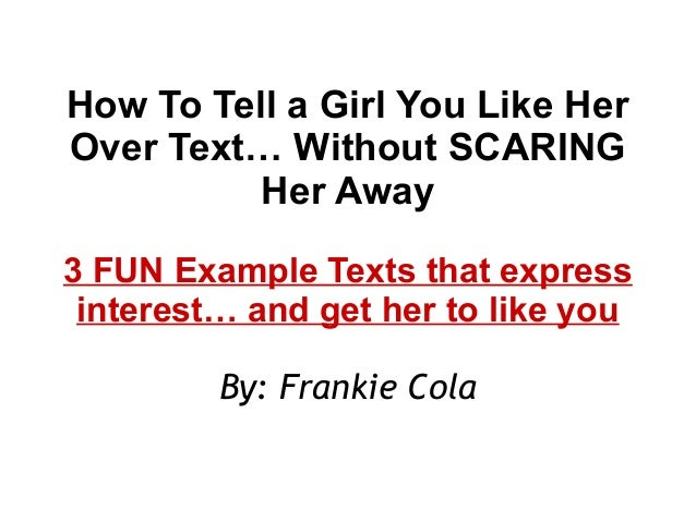 What to say to a girl when texting her