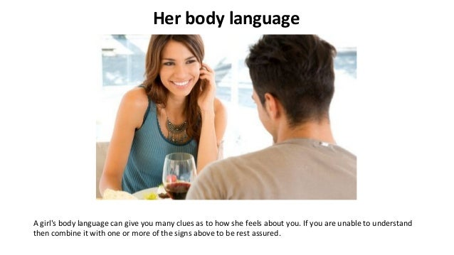 how to know if a woman likes you body language