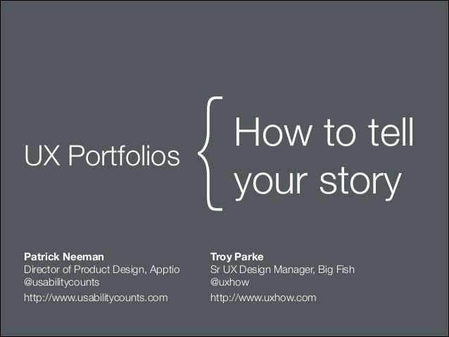 ux design portfolio presentation