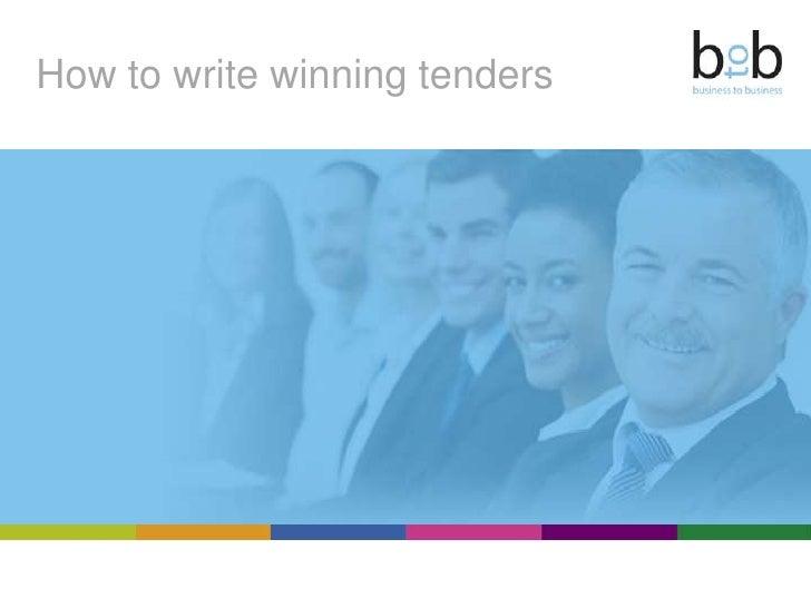 How to write winning tenders<br />
