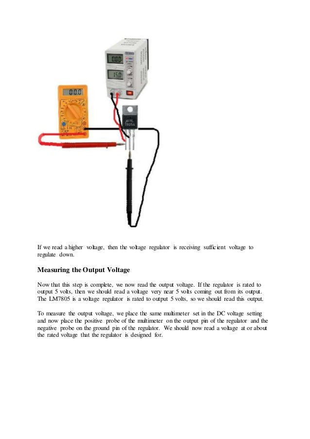 How To Test A Voltage Regulator >> How To Test A Voltage Regulator