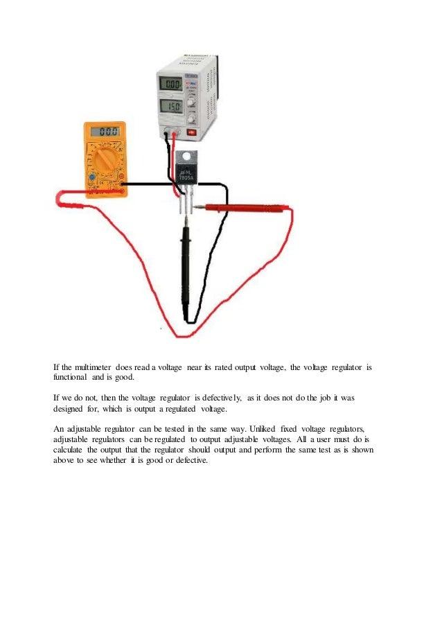Voltage Regulator Tester : How to test a voltage regulator