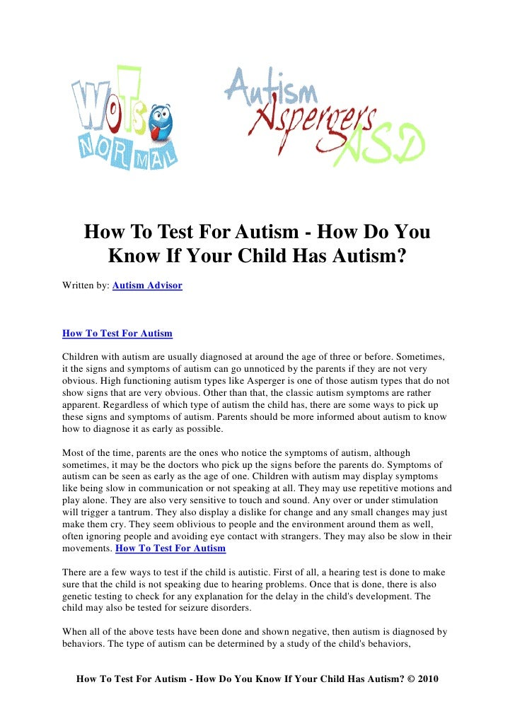 3 Minute Child Autism Test & Screening. Get Instant Results.