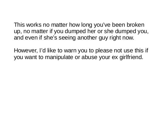 Incorrect Your Ex Back Manipulate Girlfriend How To cannot gamble anywhere