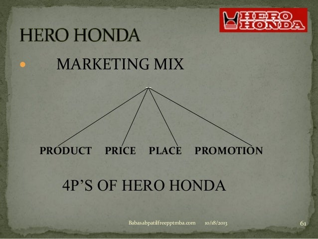 hero motocorp promotion stratgey The branding strategy of hero motor corporation in a much simple and short ppt   hero motocorp ltd, company's new identity, reflects its commitment towards  providing  brand promotion strategy • hero event sponsorship.