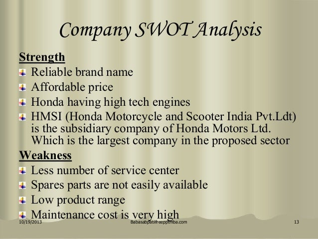 Swot Of Honda Unicorn This Website Provides Information About Toshiba In The Middle East