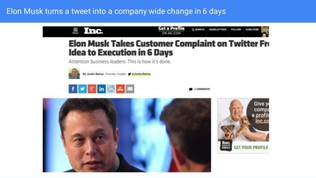 Elon Musk turns a tweet into a company wide change in 6 days