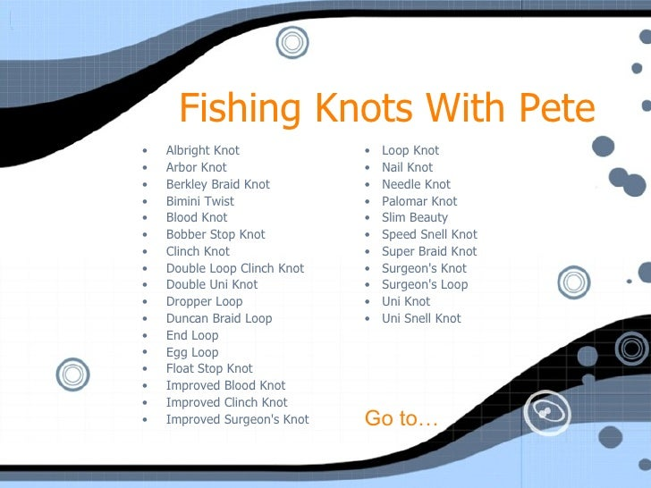 how to tie fishing knots. Black Bedroom Furniture Sets. Home Design Ideas