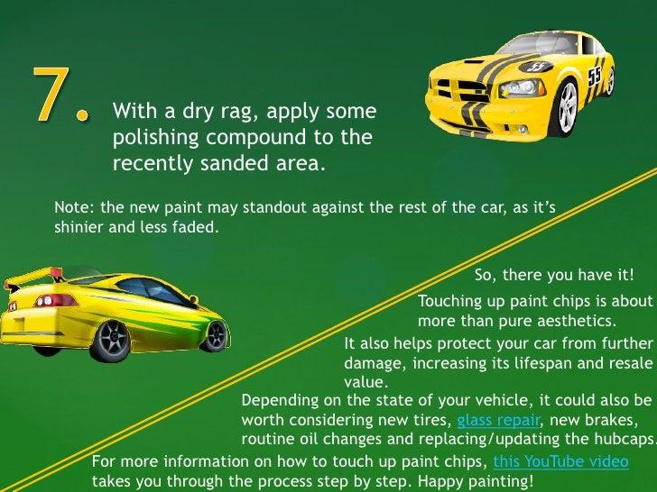Raised Paint Around Chip Car