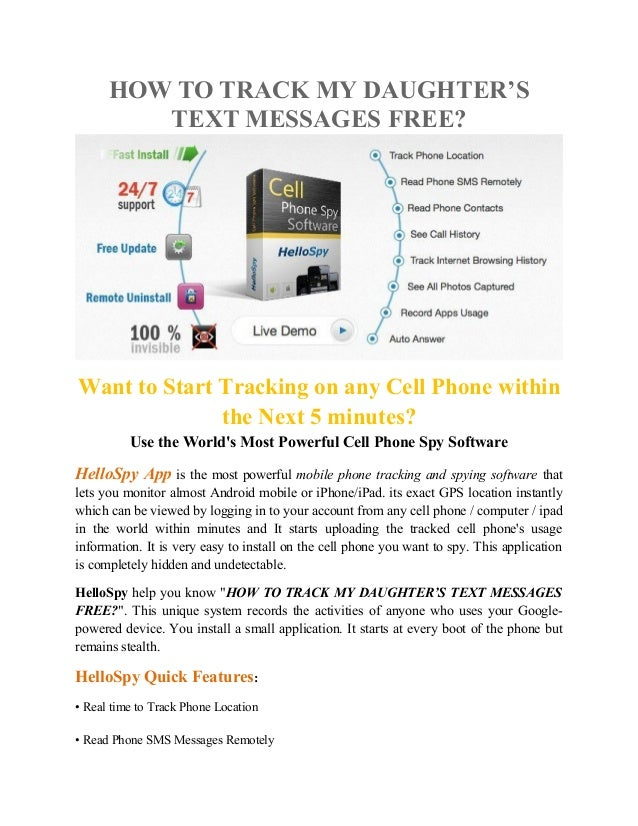 How to track my daughter's text messages free