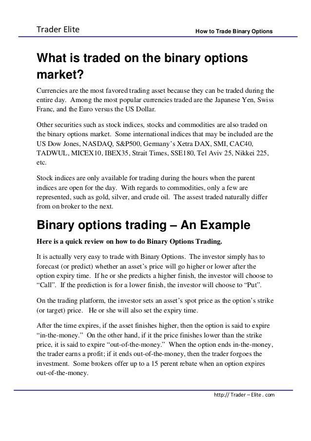 Binary option history