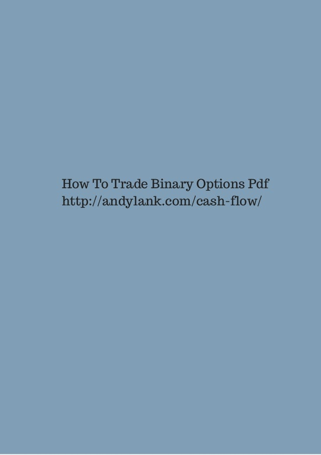 How to start trading options pdf