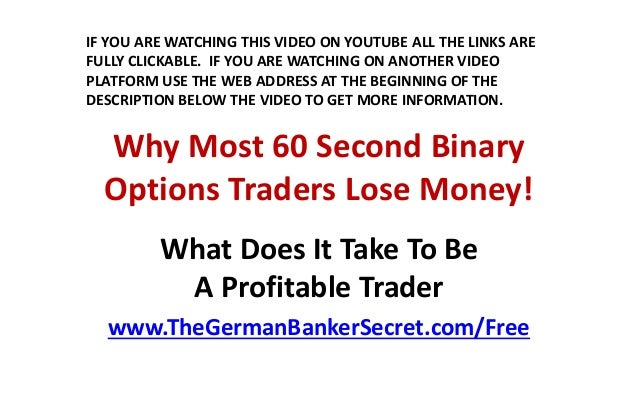 How to trade binary options profitably pdf