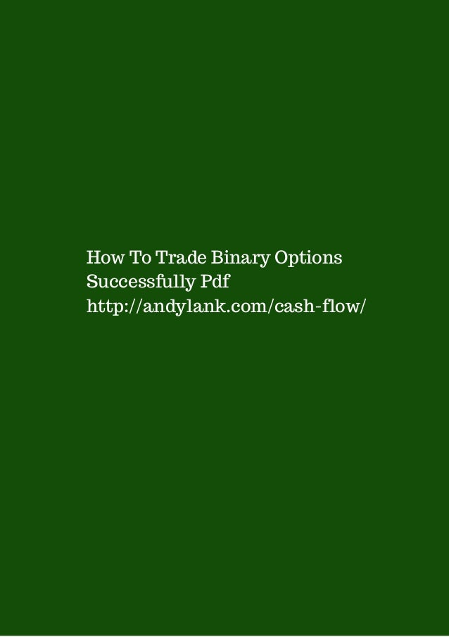 How to trade binary options successfully pdf north sydney election betting