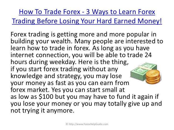 How can i trade in forex market
