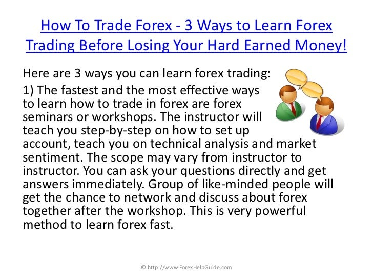 Losing money forex trading