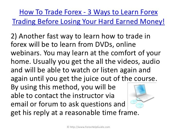 How can i learn forex trading