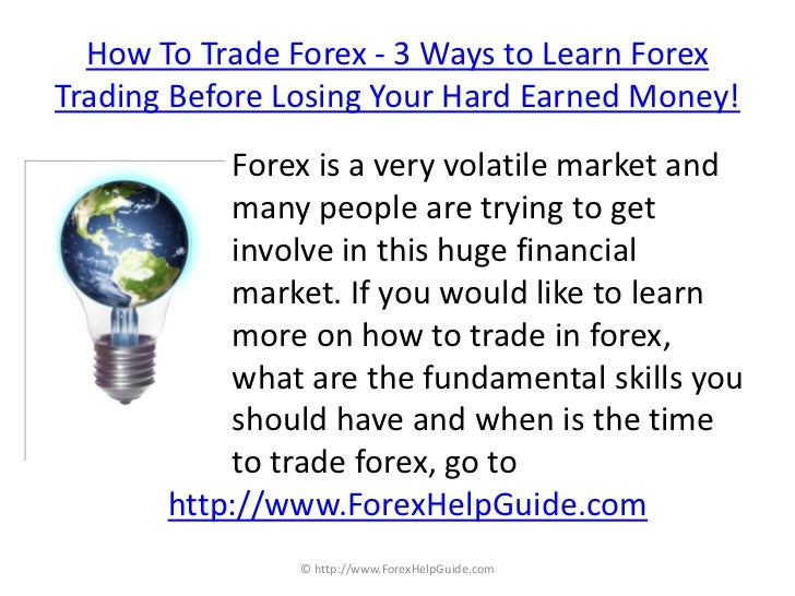 How to trade in forex online