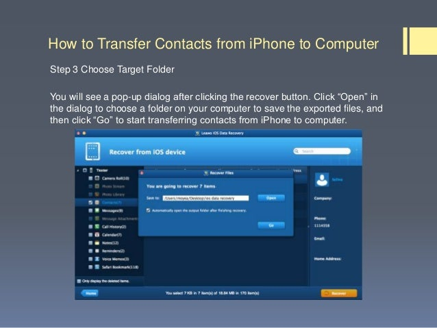 how to transfer contacts from iphone to computer how to transfer contacts from iphone to android phone 21069