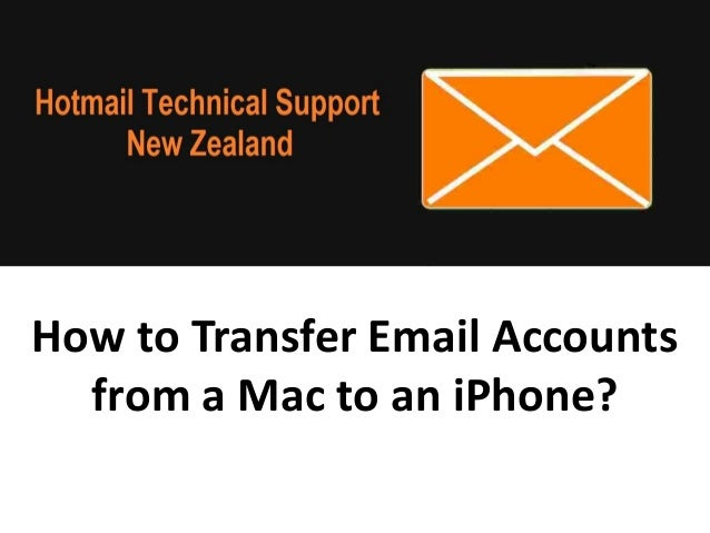 How to Transfer Email Accounts from a Mac to an iPhone?