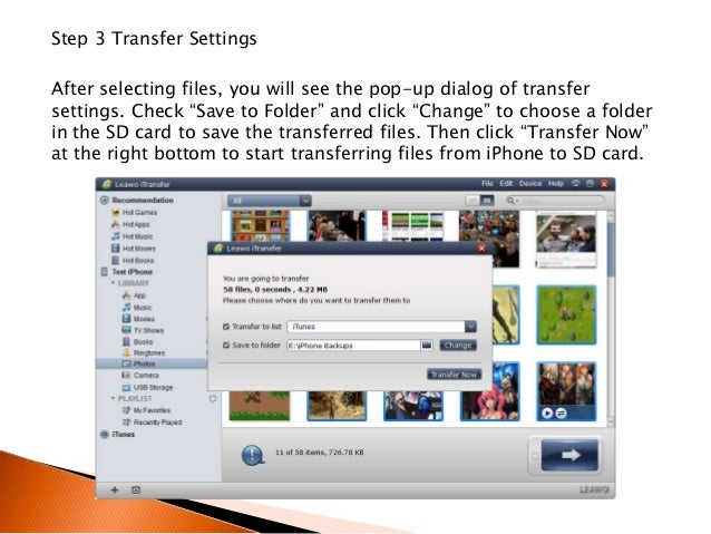 Transfer photos from sd card to iphone 8