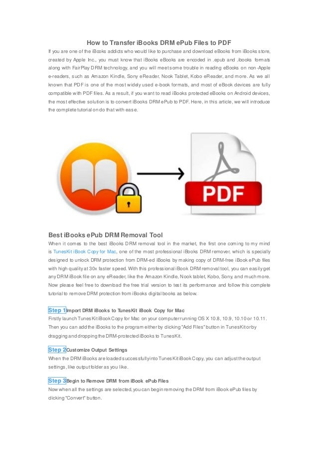 Convert iBooks DRM ePub to PDF