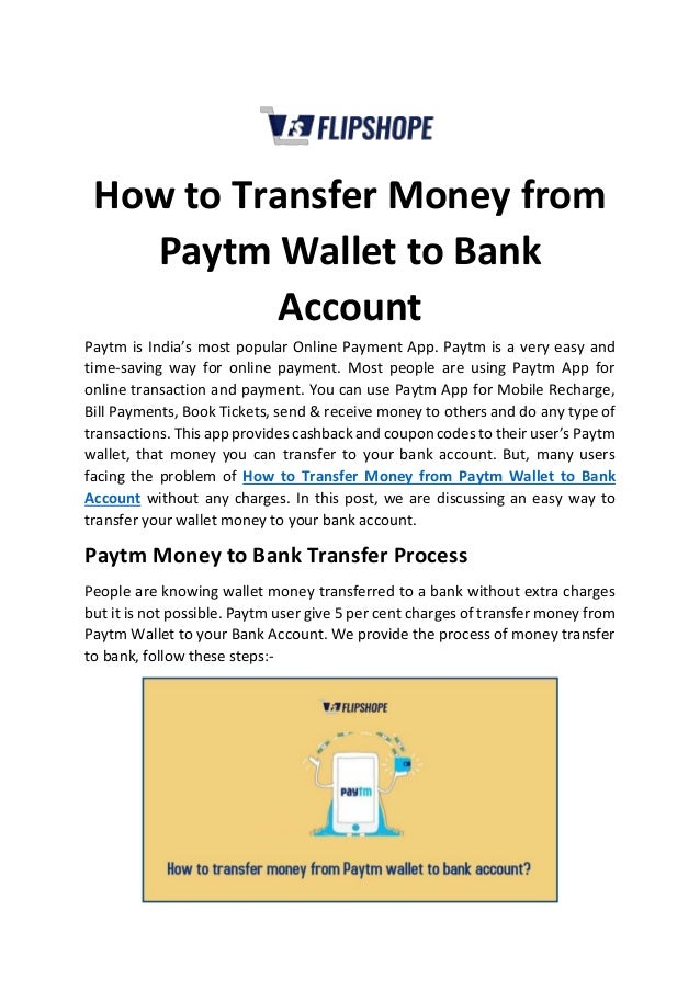 how to send wallet money to bank account in paytm