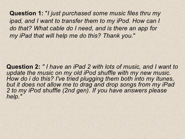 how to download my itunes songs to my new ipod