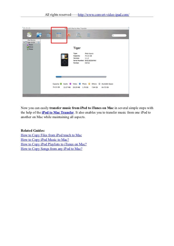 How to transfer music from ipod to itunes on mac