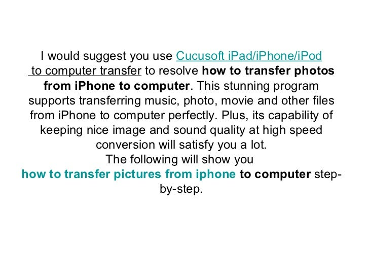 how to add a picture to iphone form computer