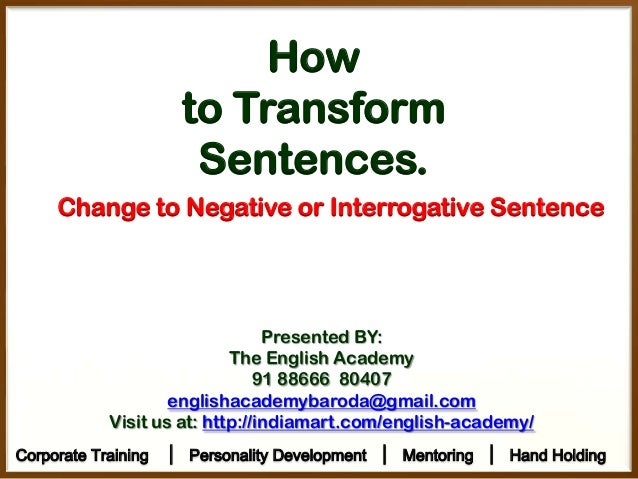Sentence transformation | LearnEnglish Teens - British Council
