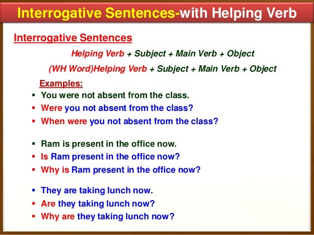 Worksheets Example Of Verbs In Sentence how to transform sentences 15 interrogative with helping verb