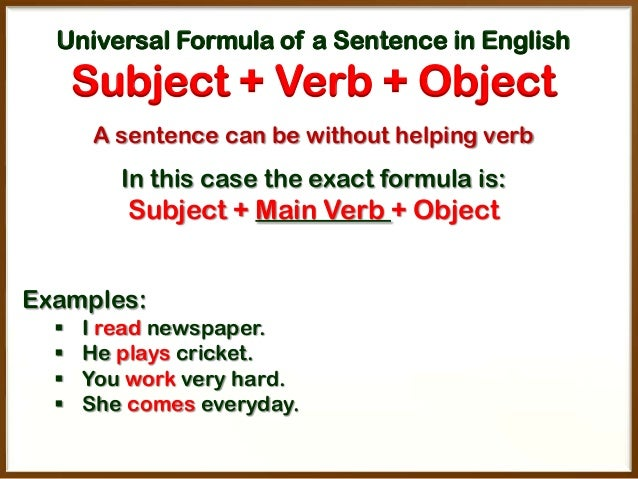 write a sentence without a verb