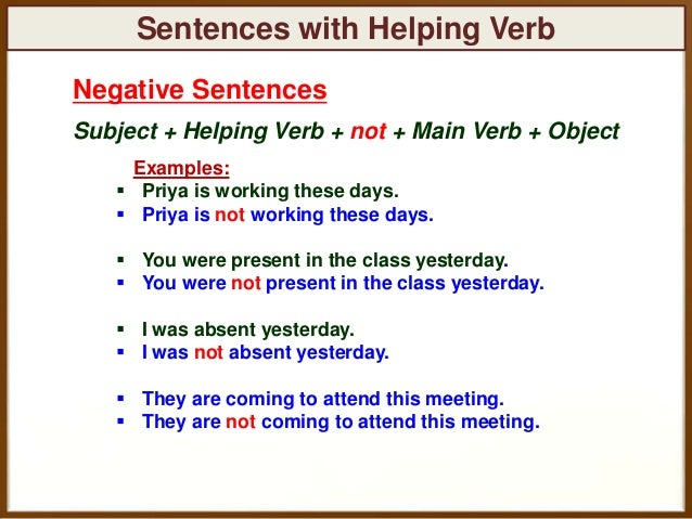 Does not sentences in english