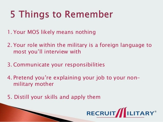 How to Translate your Military Skills to Civilian Language