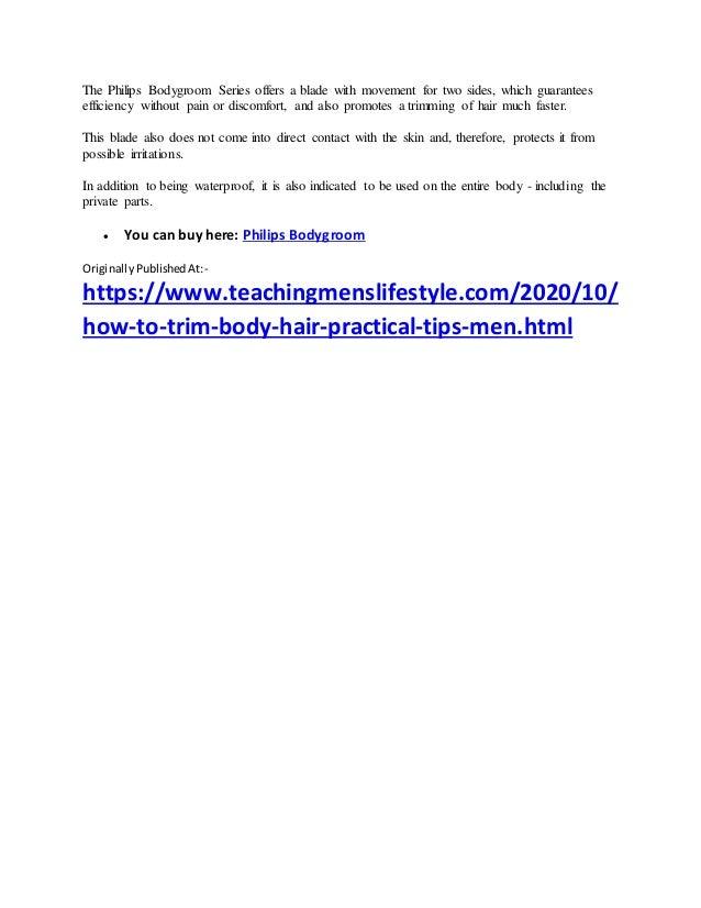 Tips men body Guide to