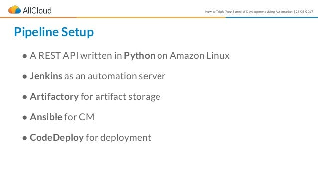How to Triple Your Speed of Development Using Automation | 26/03/2017 ● A REST API written in Python on Amazon Linux ● Jen...