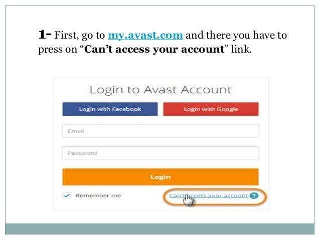 my avast com account