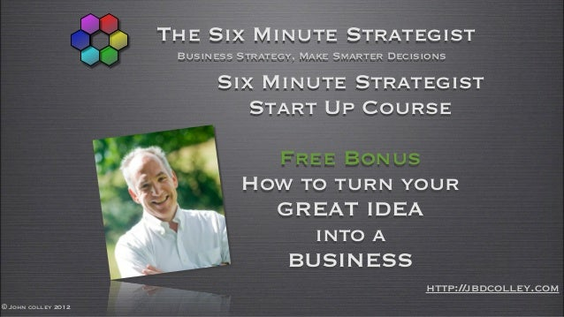 The Six Minute Strategist                      Business Strategy, Make Smarter Decisions                           Six Min...