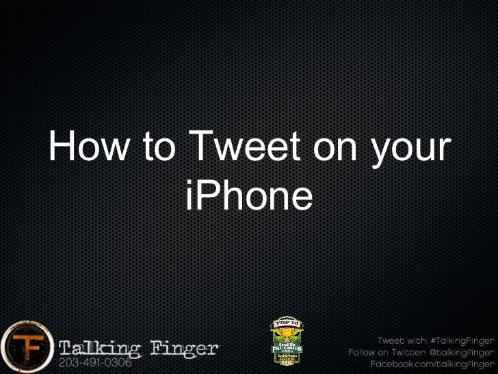 How to Tweet on your       iPhone