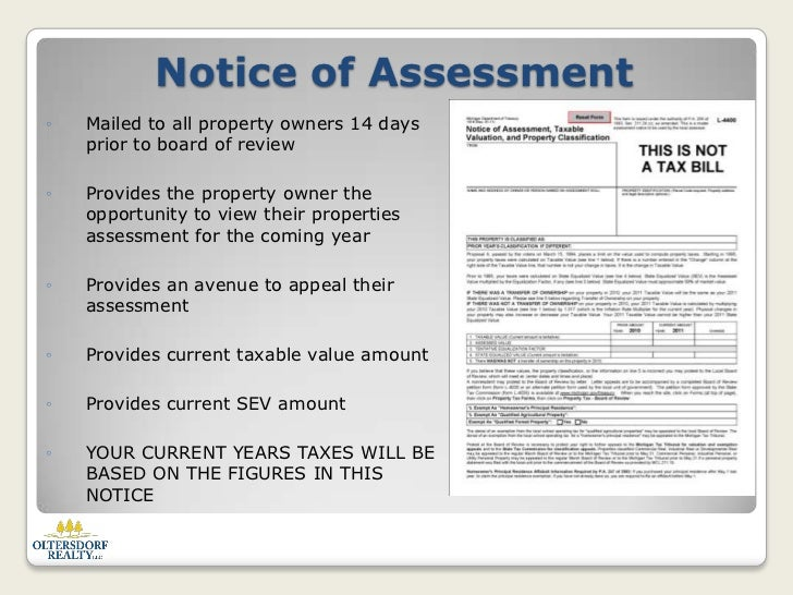 When Are Property Taxes Assessed In Michigan