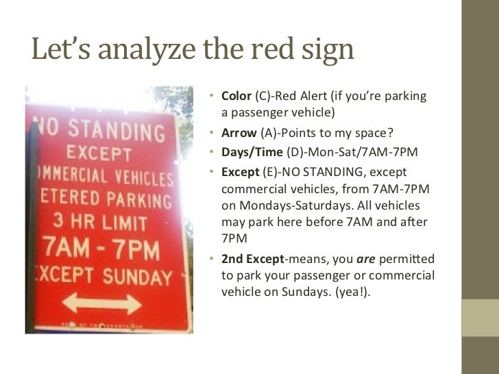How to Understand Puzzling NYC Parking Sign Language