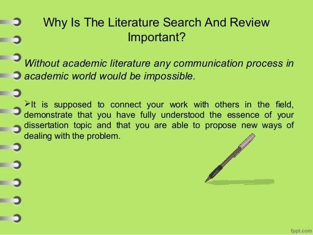 why it is important to conduct a review of the literature as part of a research project When developing a nursing research project, why is it important to remember  to conduct a mixed method research project  to complete a literature review.