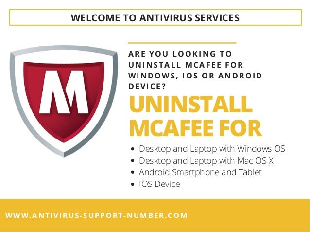 How To Uninstall McAfee Antivirus for Windows OS – A Brief Guide! Slide 2