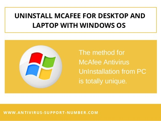 How To Uninstall McAfee Antivirus for Windows OS – A Brief Guide! Slide 3