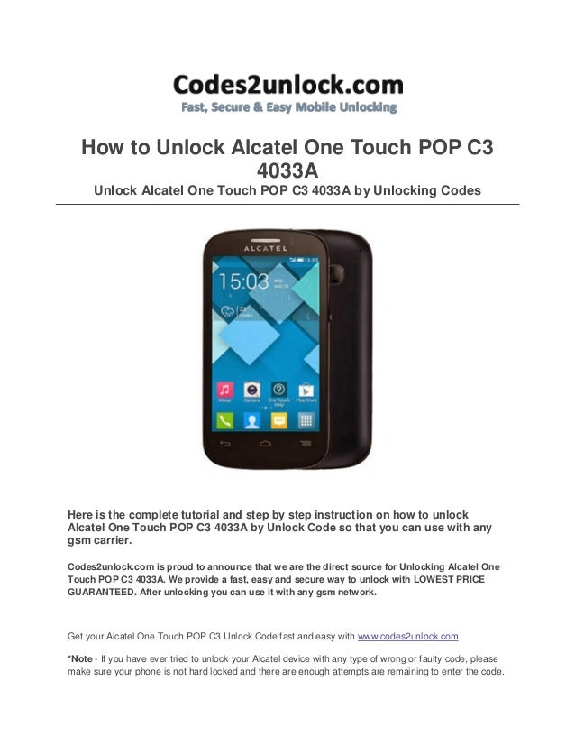 Alcatel one touch network unlock code free generator