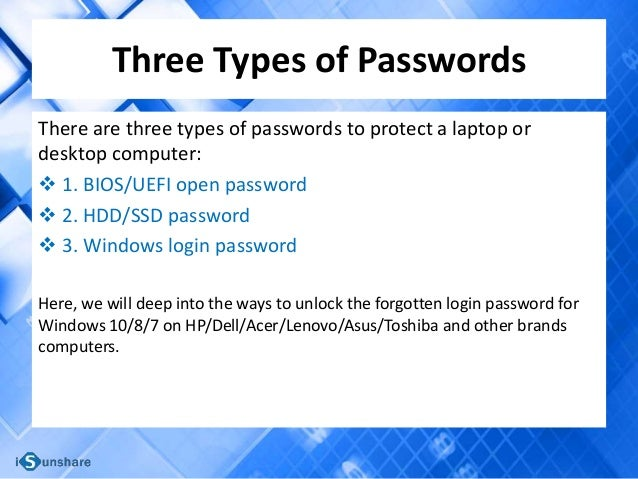 How to Unlock a Locked Laptop without the Password