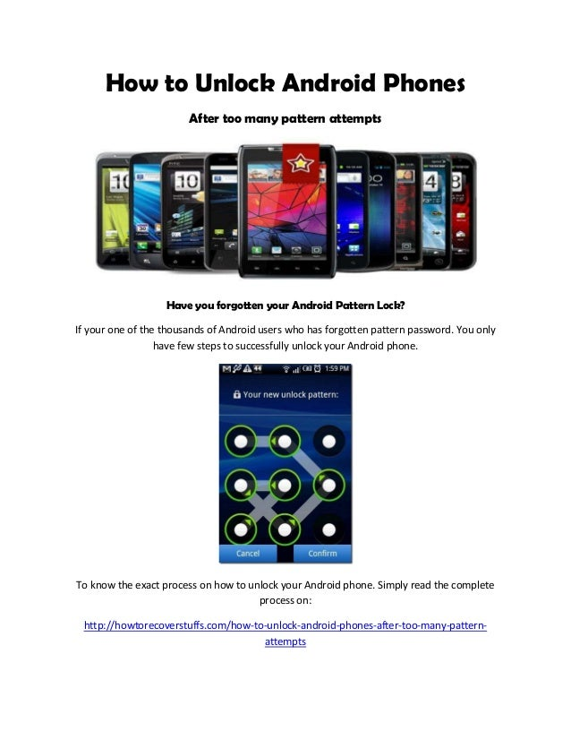 how many attempts to unlock iphone how to unlock android phones after many pattern attempts 18478